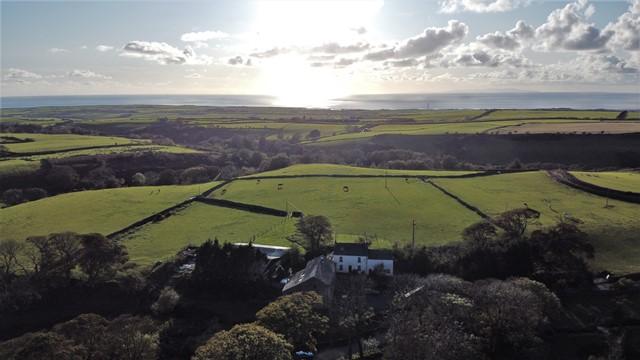 Aerial view looking West