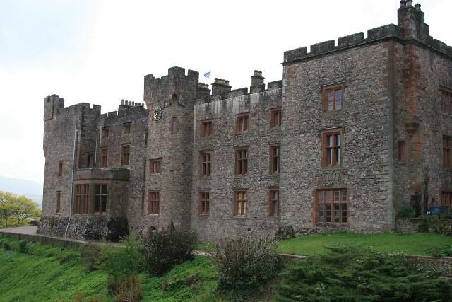 A view of Muncaster Castle