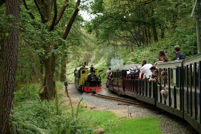 Trains passing at Fisherground