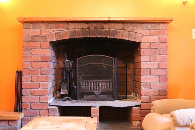 Open Fire in Sitting Room